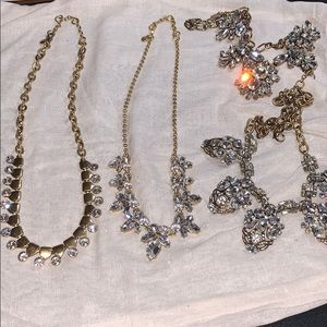 Lot 2 Like New JCrew Rhinestone Necklaces +2 Free